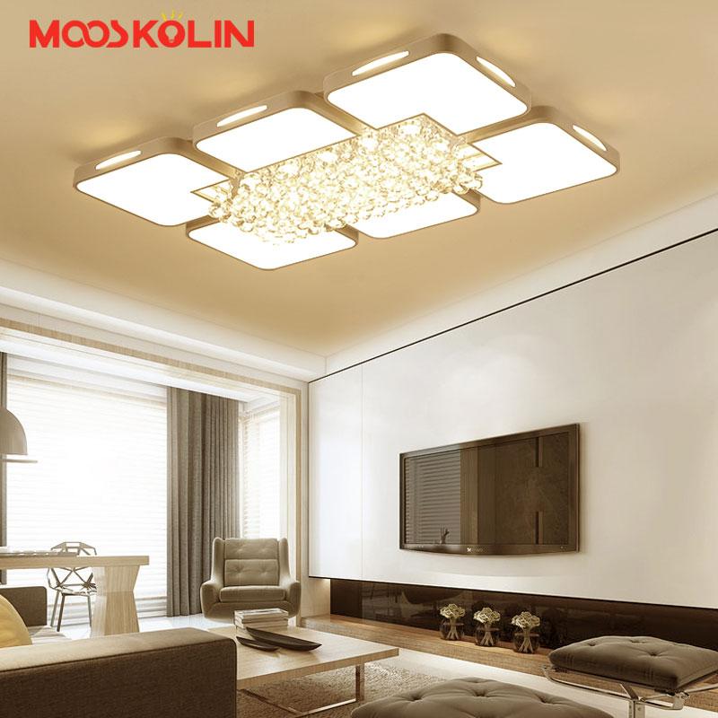 Mooskolin New Modern Crystal led ceiling chandelier lights for living room bedroom dining room home Chandelier lamp fixtures