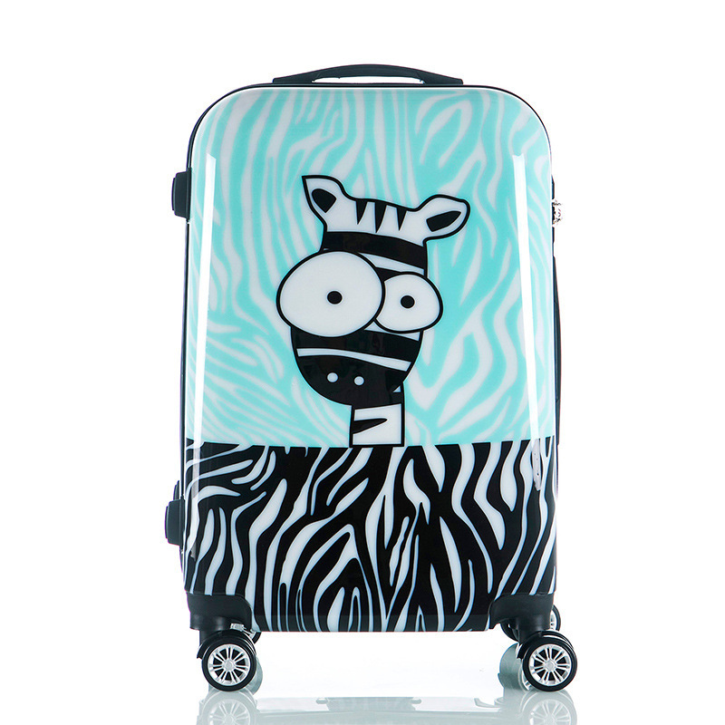 New Cartoon Trolley Case, Zebra Travel Suitcase, Men and Women Printed Trolley LuggageNew Cartoon Trolley Case, Zebra Travel Suitcase, Men and Women Printed Trolley Luggage