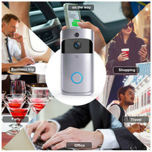 Wireless Smart WiFi DoorBell IR Video Visual Ring Camera Intercom Home Security wireless bluetooth and wifi smart home hd video doorbell camera phone ring security camera monitor