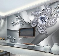 Custom 3D Stereoscopic Wallpaper Modern Wondeful Marble 3d Flower Wallpaper 3d Painting Wallpaper