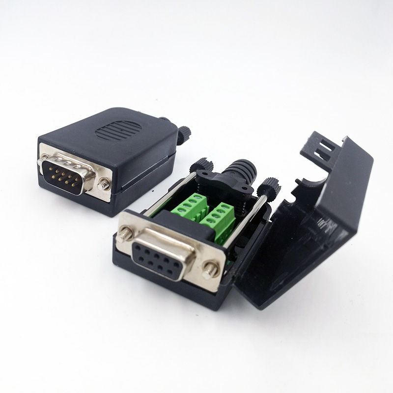DB9 COM RS232 transfer-free Signals terminals Male Female connector D sub 9Pin db9 male female adapter signals terminal module rs232 serial to terminal db9 connector