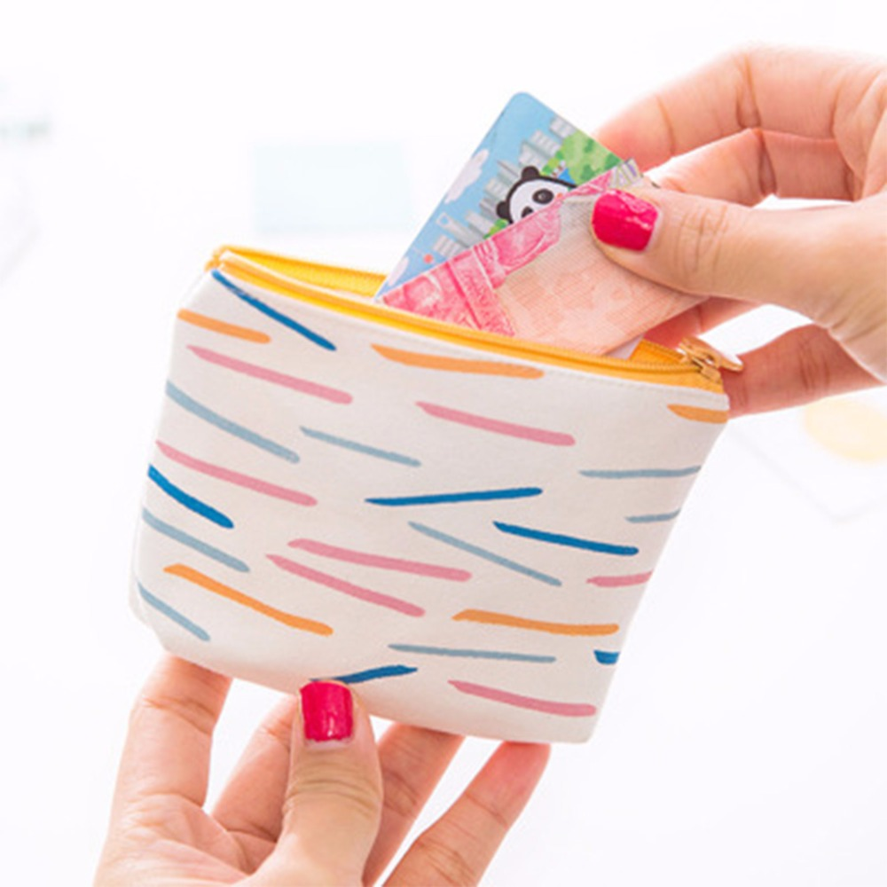 THINKTHENDO New Girl Kids Mini Purses and Wallets Money Pouch Canvas Coin Key Holder Girl Portable Zip New Fashion Cute Handbag