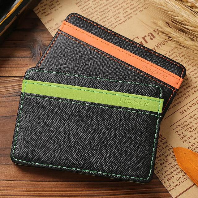 d46378ae6ddb Hot Sale Fashion Orange Green Colors Magic Credit Card Holder Money wallet  Interesting Change Style Men s wallets Free Shipping