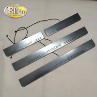 SNCN Customized 4PCS Door Waterproof Dynamic Moving LED Welcome Pedal Car Scuff Plate Pedal Door Sill Pathway Light