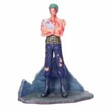 23CM Anime One Piece Roronoa Zoro Battle Damage Ver Figurine Dolls Toys PVC Action Figure