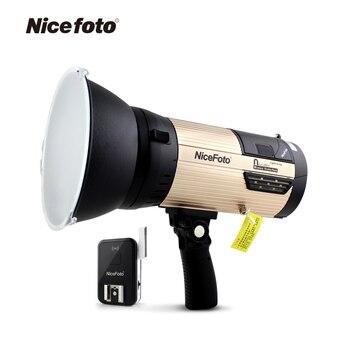New 600W Portable Studio Strobe Flash High Speed Light  Embeded Battery Built-in 2.4G Wireless Trigger Lighting nicefoto n680A