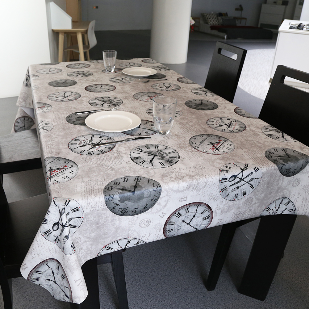 PVC European style square table cloth waterproof Oilproof non wash plastic pad plus velvet anti hot