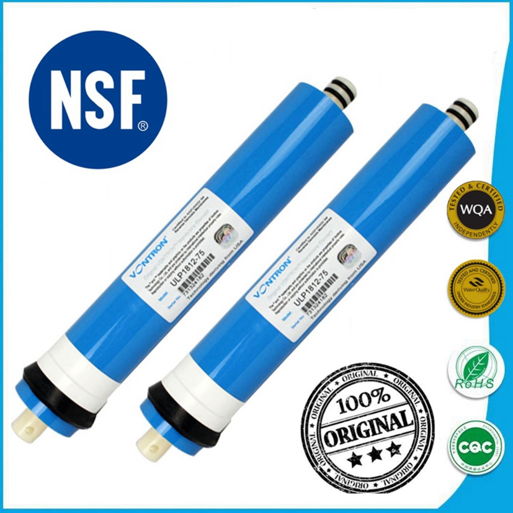 50 75 100 GPD Reverse Osmosis RO Membrane Certified to NSF / ANSI 58 / WQA For 5 Stage Water Filter Purifier Treatment atwfs 5 stage filter cartridge water purifier 75 gpd ro membrane reverse osmosis sysyem water filters for home