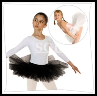 5 Pieces Lot Wholesale Child Half Ballet Tutus Ballet Training Skirts 4 Layers Hard Tulle