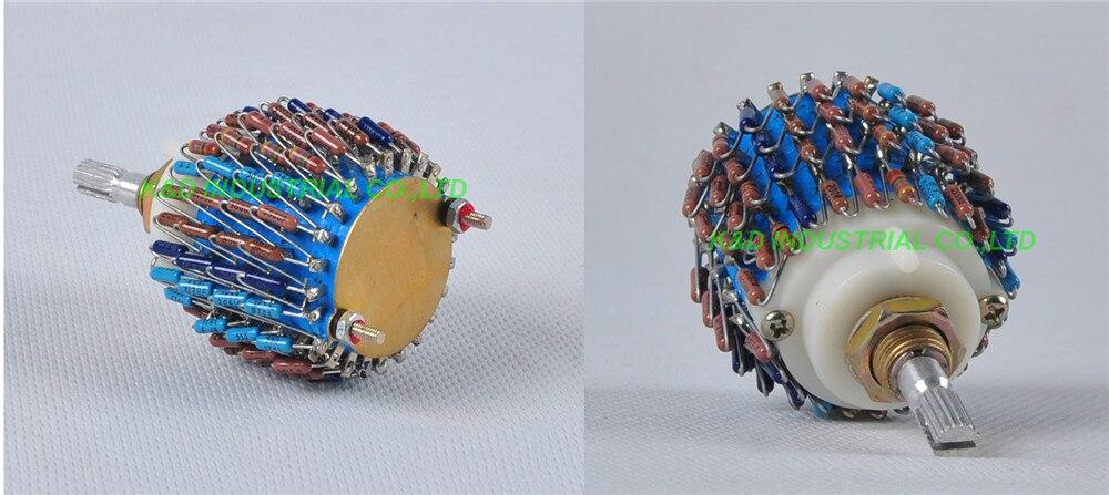 1 pc 4 Pólo 24 Passo DALE 4 canal 4Way Atenuador de Volume Pot 50 k Fr Tubo Amplificador Potenciômetro