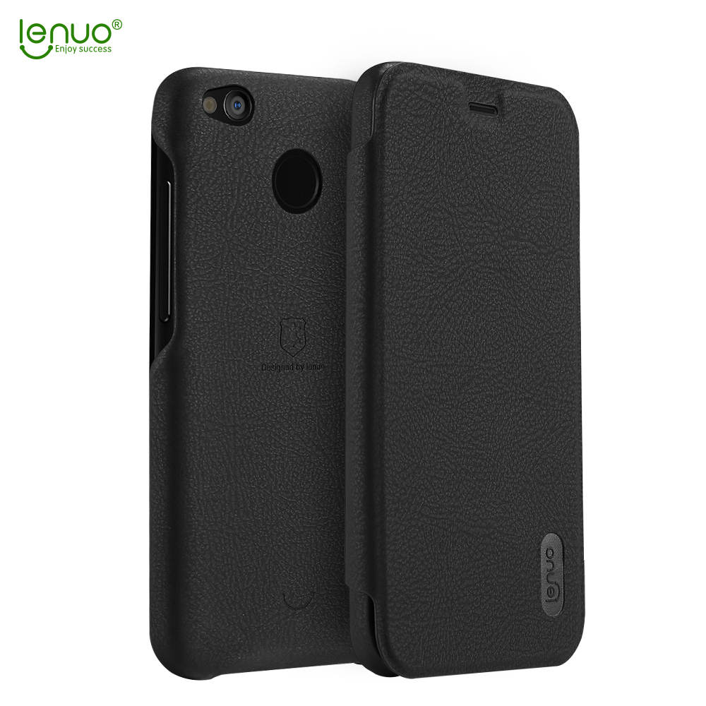 Lenuo Flip Case Xiaomi Redmi 4x Leather Cover Ultra Thin Phone Bag Protective Shell Back Cover