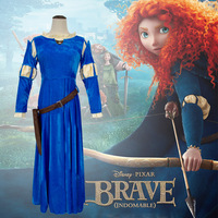 Medieval Victorian Renaissa Merida Princess Dress Brave Legend Costume Cosplay Halloween Costumes for Women S XL