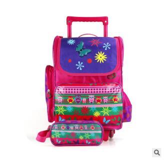 Школьный рюкзак с колесами для девочек студентов школы прокатки сумки рюкзак для школы Mochila Дорожная сумка тележка для детей