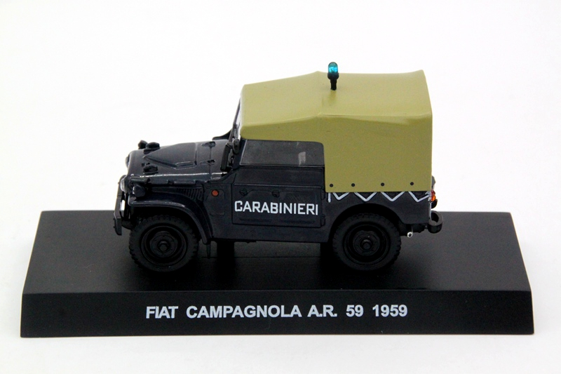 1:43 Scale Fiat Campagnola A.R 59 1959 Carabinieri Models Diecast Toys Cars Hobbies Collection Gift