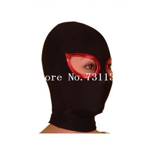 Горячая Хэллоуин забавная блестящая металлическая толстовка с капюшоном «zentai» унисекс маска - Цвет: Open Eye 3