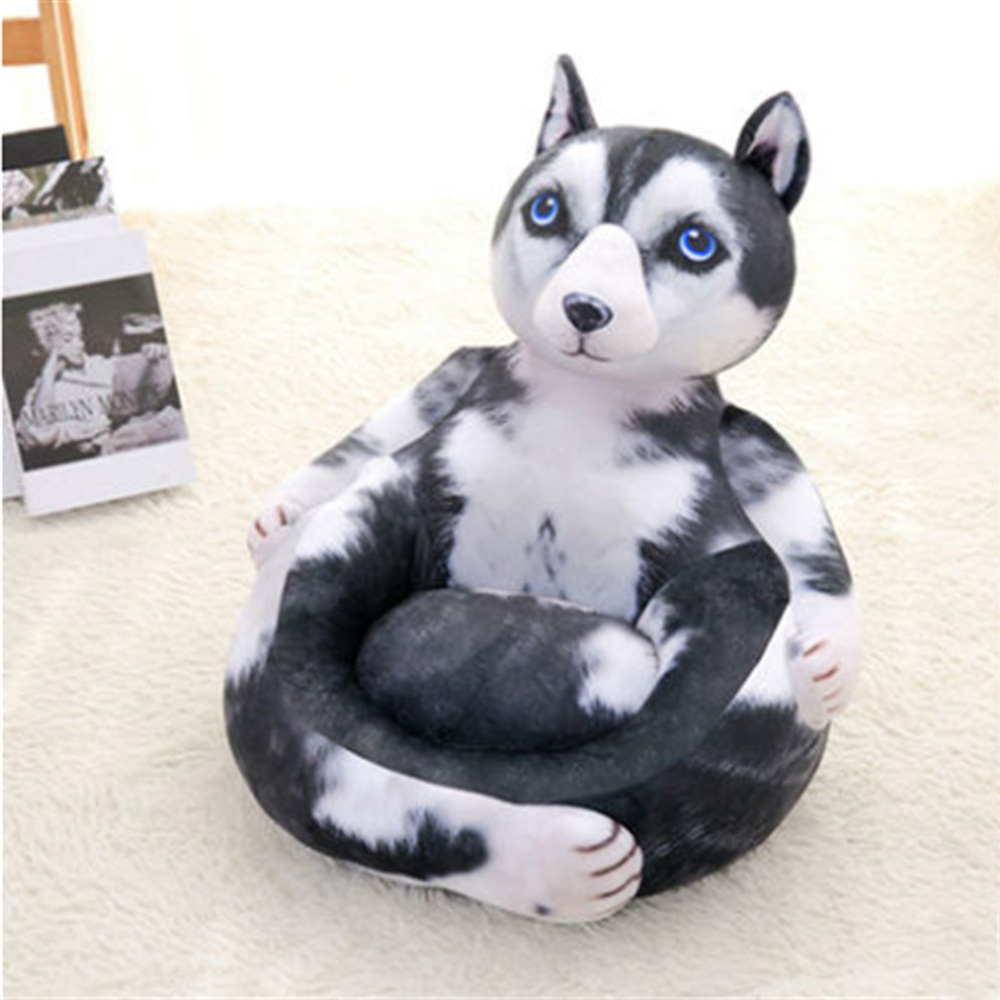 ᑎ‰Fancytrader Emulational Animals Cat Dog Plush Mini Sofa Stuffed ...