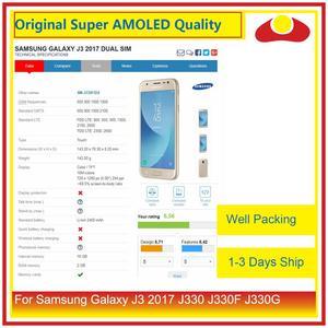 "Image 3 - מקורי 5.0 ""עבור Samsung Galaxy J3 2017 J330 LCD תצוגה עם מסך מגע Digitizer פנל Pantalla מלא J3 פרו 2017 LCD"