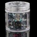 Jazmín 1 UNID 10 ml Diamante Negro Del Clavo Del Brillo Del Arco Iris Rhombus Copos para La Decoración de Uñas Encantos Láser Polvo De Manicura No. 1