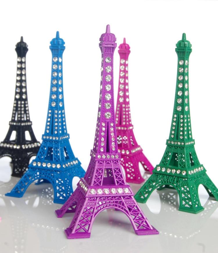 13cm Eiffel Tower Ornament Colorful Paris Eiffel Tower