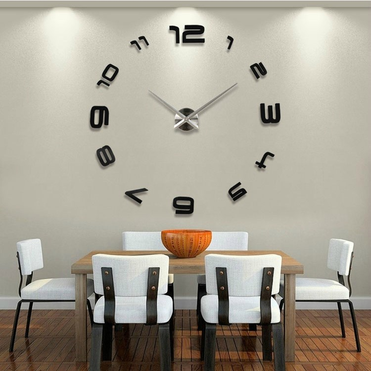 E Home Decor Decoration Living Room Watches Fashion Brief Quartz Clock Large Clocks 2017 New Silent