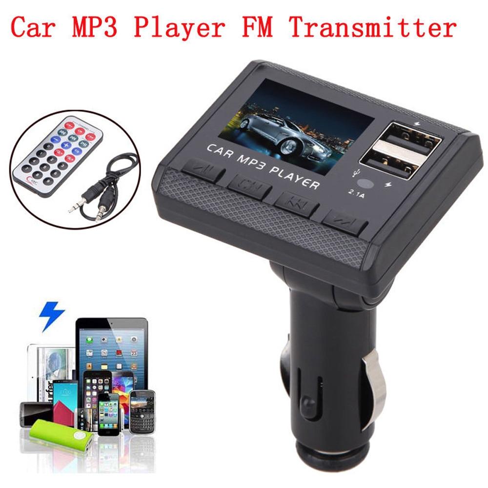 Car Mp3 Player 87.5mhz-108.0mhzCar Music MP3 Player FM Transmitter Modulator Dual USB Charging SD MMC Remote APR03 YE3.27