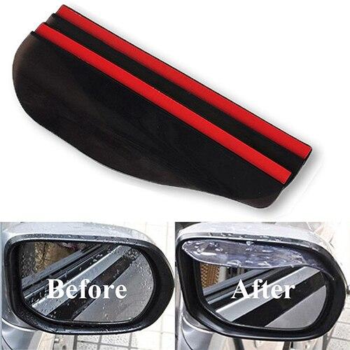 Newest 2 Pcs Universal Rear View Side Mirror Black Clear Rain Snow Shield for Car Truck цены онлайн