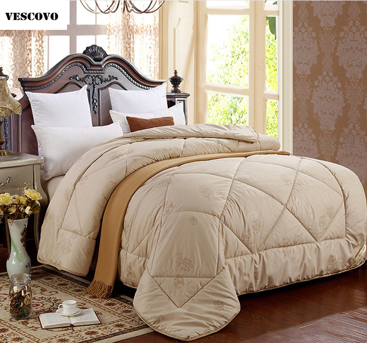 Vescovo Winter Summer Bedding Insert Gold Camel Wool