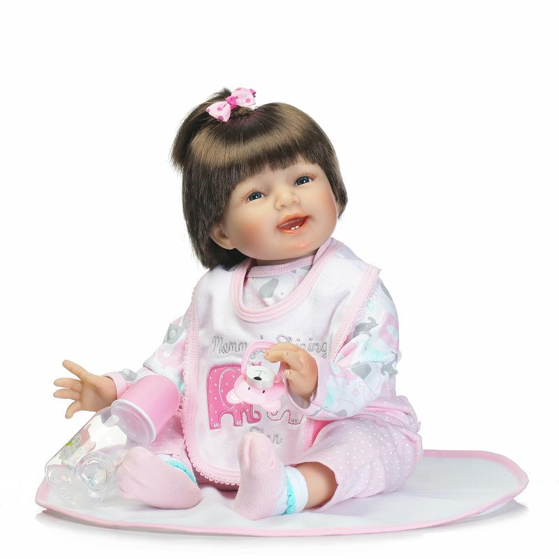 55cm Soft Silicone Reborn Baby Toys Fashion Collection Doll Best Gift for Girls Lifelike Newborn Babies Toys Girl Princess Doll цена