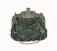 Special Offer Green Female Banquet Mini Handbag Clutch Wedding Evening Bag Beaded Sequined Purse Makeup Bag