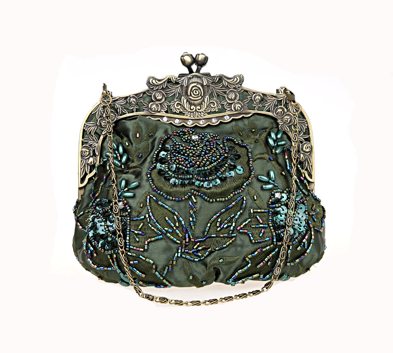 Special Offer Green Female Banquet Mini Handbag Clutch Wedding Evening Bag Beaded Sequined Purse Makeup Bag Mujer Bolso 2583-Y pinup rockabilly special retro atmosphere beautiful generous banquet hoop rabbit ear