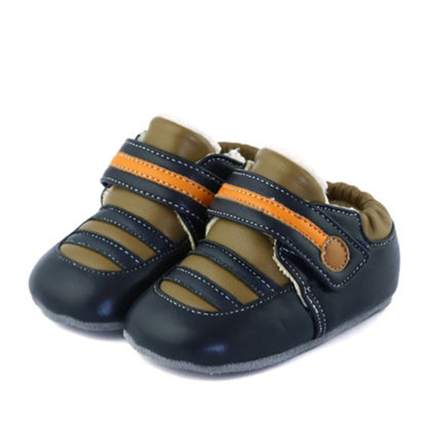 Baby Shoes First Walkers Baby Soft Bottom Anti Slip Shoes For Newborn Fashion Cute Soft Baby Shoes Leather Winter 60A1057