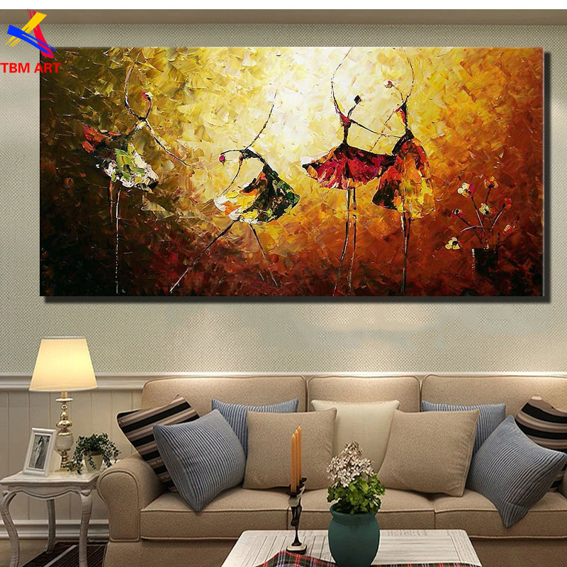 living room texture painting aliexpress buy tbm textured ballet picture 17552