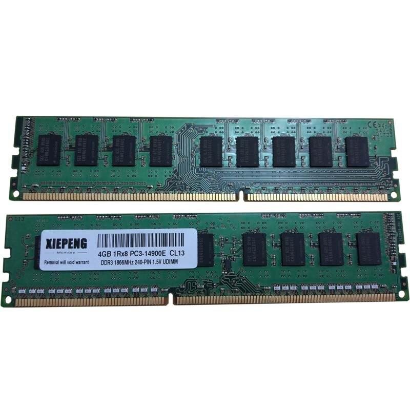 Serveur RAM 8 GO DDR3 1866 MHz 4 GO 2Rx8 PC3-14900E Mémoire 8G 1866 DDR3 ECC PC3 14900 unbuffered SDRAM