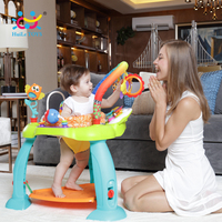 HUILE TOYS 2106 Baby Bouncing Swing Piano Bounce First Steps Jumperoo Jump & Learn Stationary Jumper Luxury Activity Paradise