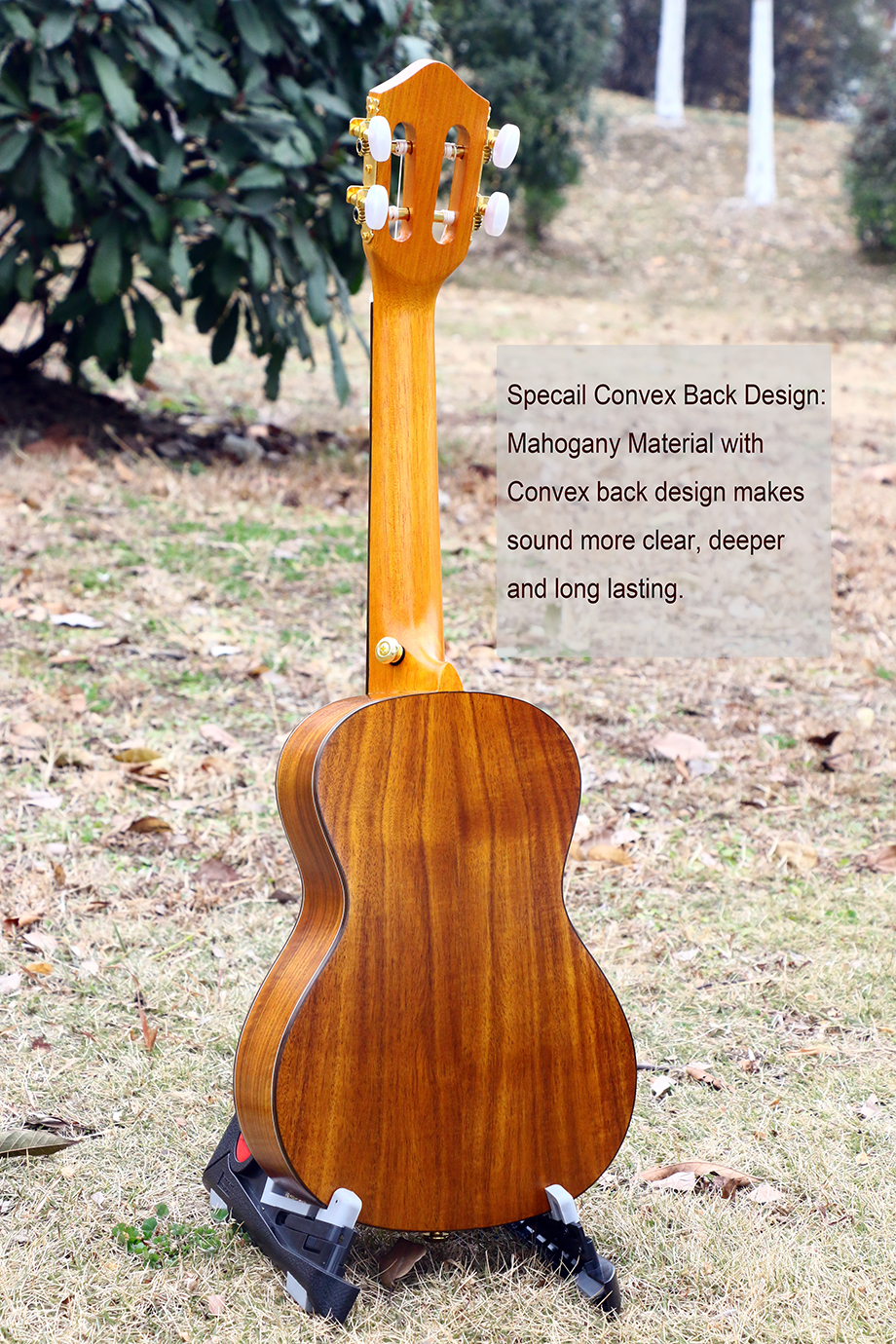 "Купить с кэшбэком 23"" Concert Ukulele Guitarra Great sound handcraft made of KOA 4strings Classic acoustic Guitar instrument hawaii uke Ukelele"
