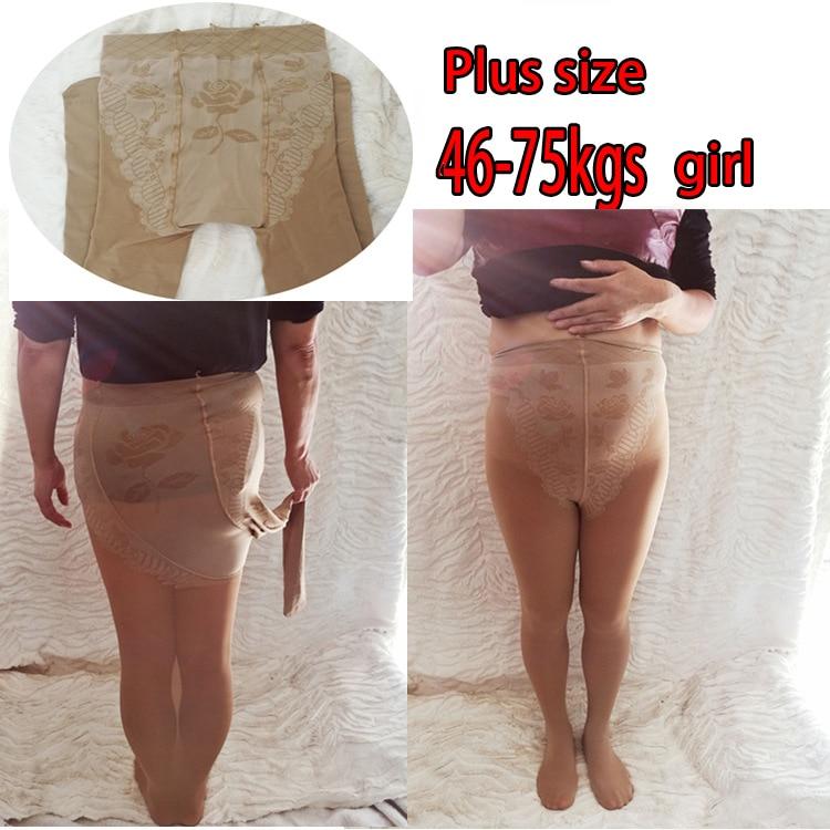 Fcare Spring and Autumn plus large size bikini plus crotch velvet tights women pantyhose Collant