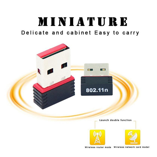 Image 4 - Mini USB 2.0 802.11n Standards 150Mbps Wifi Network Adapter Support 64/128 bit WEP WPA Encryption for Windows Vista MAC Linux PC-in Network Cards from Computer & Office