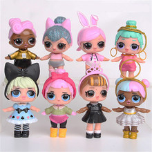 HaveFun 8pcs LoL Doll Unpacking High-quality Dolls Baby Tear Open Color Change Egg LoL Doll Action Figure Toys Kids Gift(China)