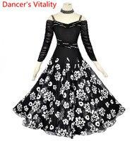 Modern dance ballroom dance skirt woman skirt new woman dance dress practice adult female Waltz match skirt