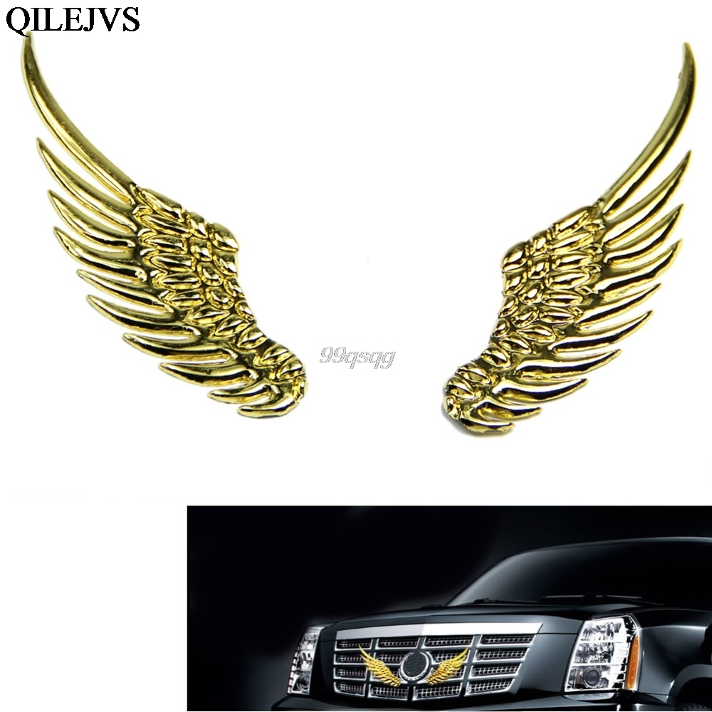 3d alloy metal angel hawk wings emblem badge decal car logo sticker 3d alloy metal angel hawk wings emblem badge decal car logo sticker golden silver color optional 1pair for all car decoration in car stickers from biocorpaavc Choice Image