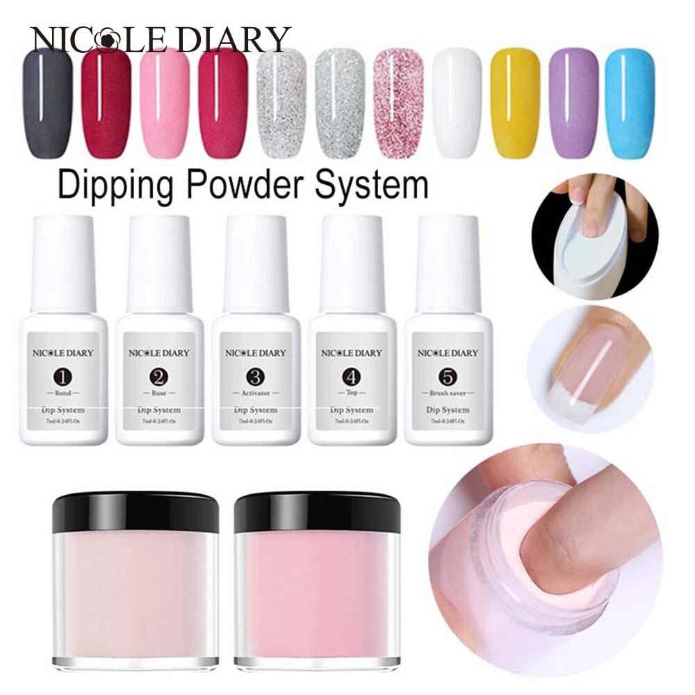 NICOLE DIARY 10 мл система погружения порошок градиент французский цвет ногтей блеск без лампы Лечение Маникюр украшения для дизайна ногтей