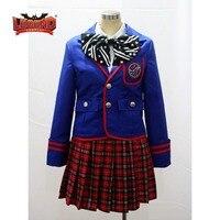 Kamen Rider Fourze Tomoko Nozama Cosplay Costume japanese school uniform dress