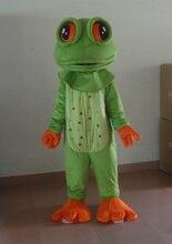 Sommer heißer verkauf!! Neue Erwachsene größe großen augen frosch maskottchen kostüm mit anzüge schuhe partei kleid Halloween kostüm