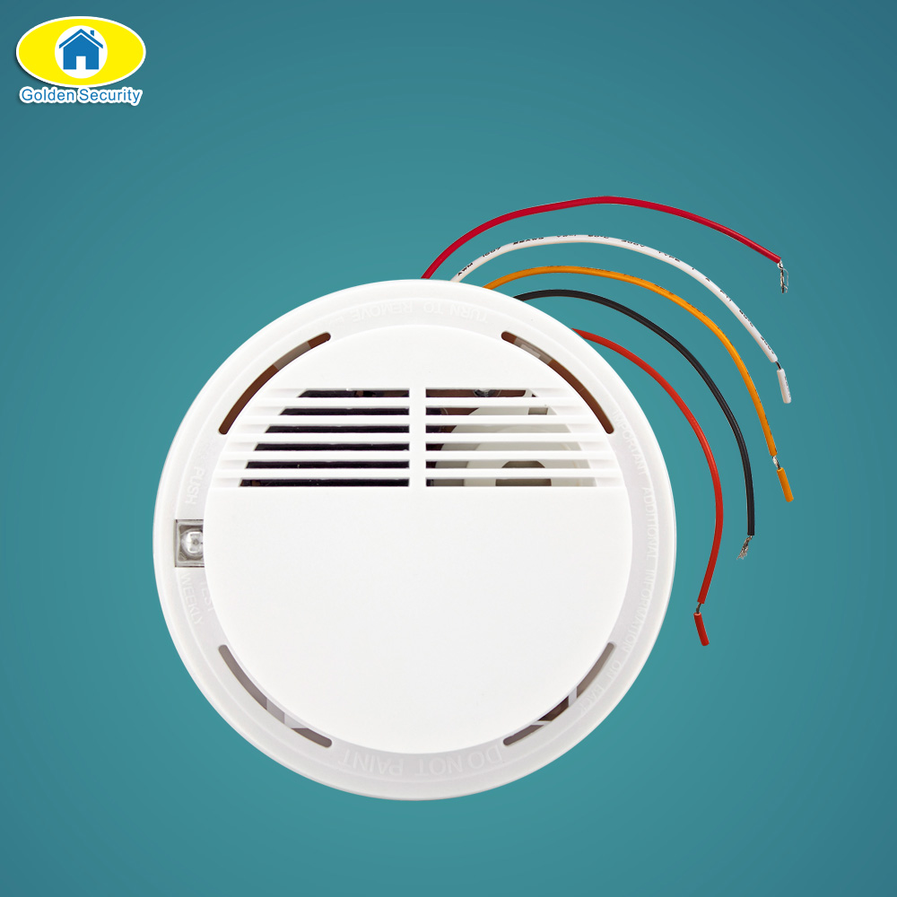 Golden Security Wired Smoke Fire Detector Home Security Smoke ...
