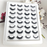16styles/set Mink Eyelashes 3D Mink Lashes Thick HandMade Full Strip Lashes Cruelty Korean Mink False Eyelashes free shipping
