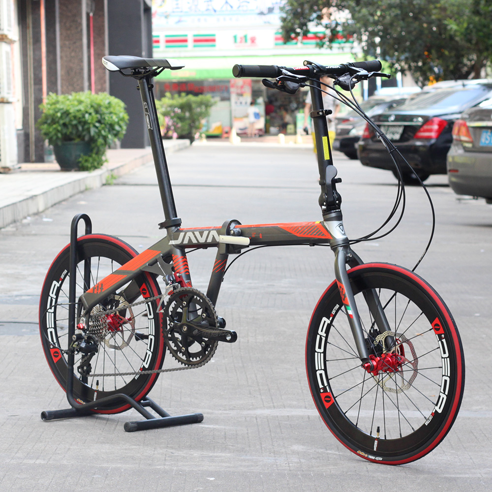 JAVA FIT Aluminium Adult Folding Bike 20 451 Wheel 18 font b Speed b font Disc