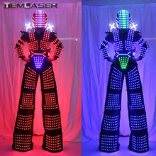 LED Robot Costume  LED Clothing Light suits  Robot suits Kryoman robot david guetta robot Size/ color customized