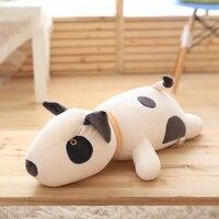 Cute Soft Cartoon Bull Terrier Down Cotton Pillow Hot Home Sofa Decoration Children Toy Birthday Girlfriend