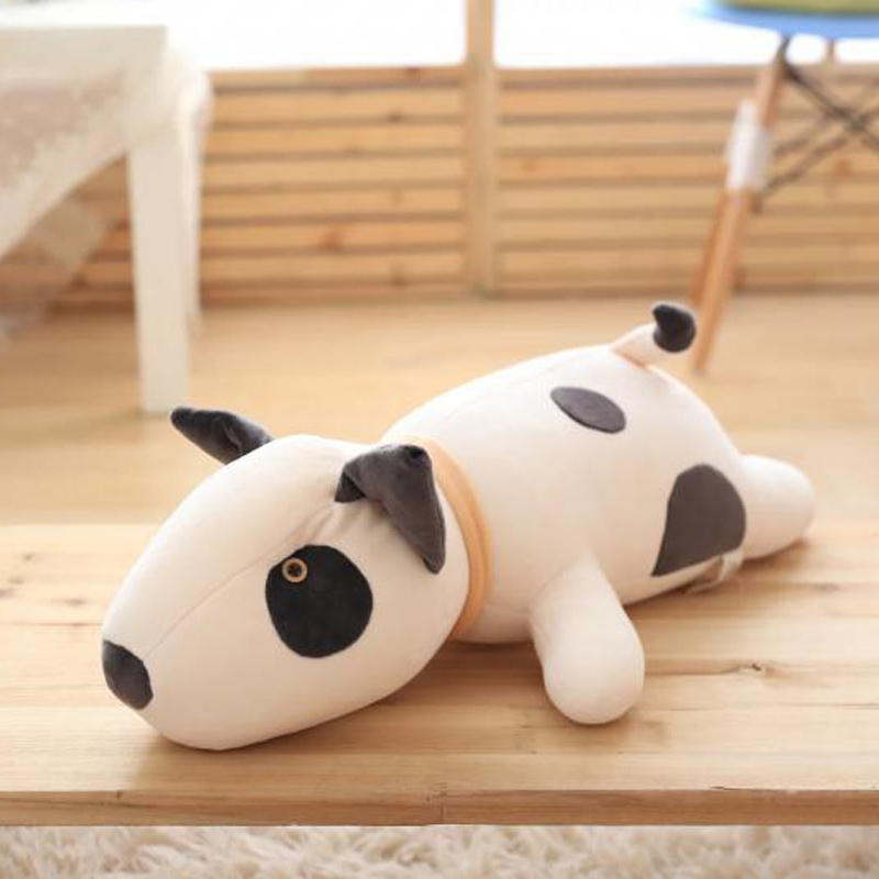Nooer Cute Soft Bull Terrier Dog Plush Toy Dog Stuffed Pillow Doll Children Kids Toy Birthday Girlfriend Gift Baby Toy 1pcs 22cm fluffy plush toys white eyebrows cute dog doll sucker pendant super soft dogs plush toy boy girl children gift