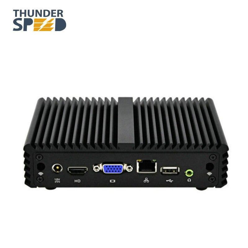 X86 Mini PC Win 10 Linux Ubuntu Intel Celeron J1900 Quad Core Fanless Desktop Computer 12V Saving